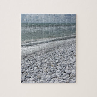 Seashore of a beach in a cloudy day at summer jigsaw puzzle