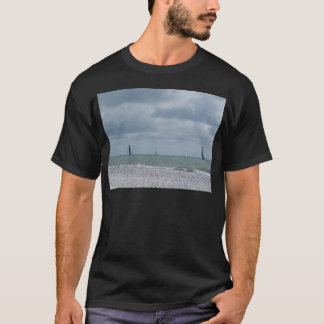 Seashore of beach during regatta at summer T-Shirt