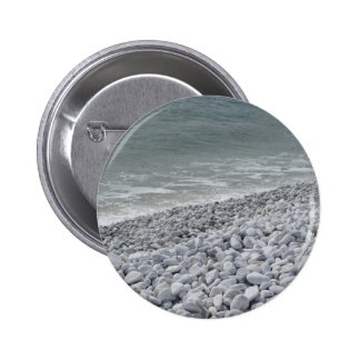 Seashore of beach in a cloudy day at summer 2 inch round button