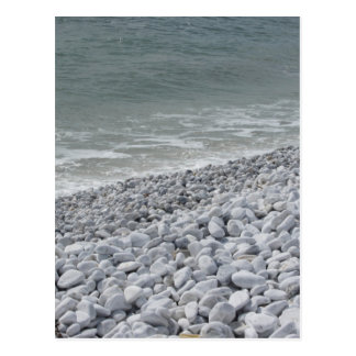 Seashore of beach in a cloudy day at summer postcard