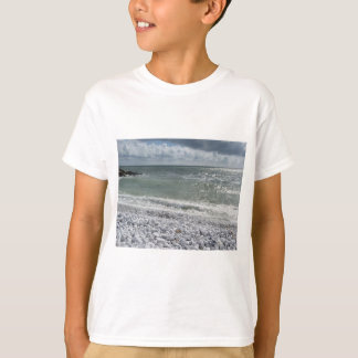 Seashore of beach in a cloudy day at summer T-Shirt