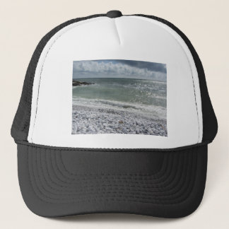 Seashore of beach in a cloudy day at summer trucker hat