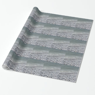 Seashore of beach in a cloudy day at summer wrapping paper
