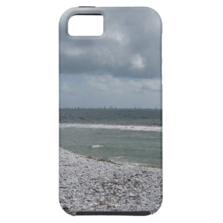 Seashore of beach with sailboats on the horizon iPhone 5 cases