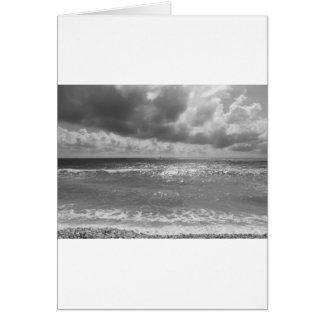 Seashore of Marina di Pisa beach in a cloudy day Card