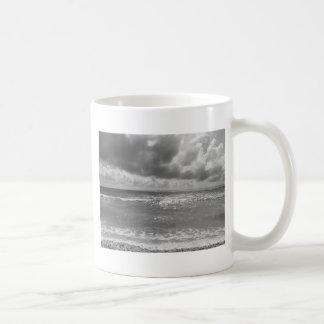 Seashore of Marina di Pisa beach in a cloudy day Coffee Mug