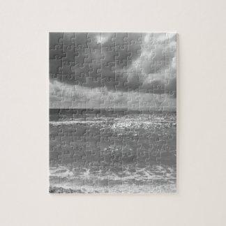 Seashore of Marina di Pisa beach in a cloudy day Jigsaw Puzzle