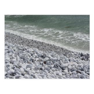 Seashore of Marina di Pisa beach in a cloudy day Postcard