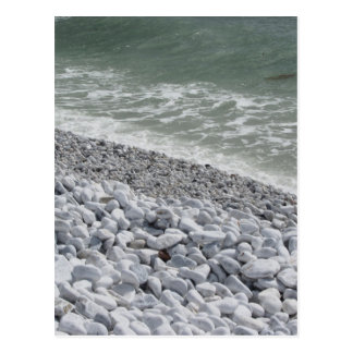 Seashore of Marina di Pisa beach in a cloudy day Postcard