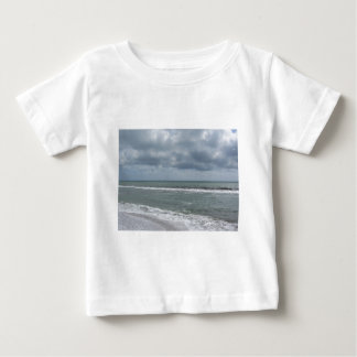 Seashore of Marina di Pisa beach with sailboats Baby T-Shirt