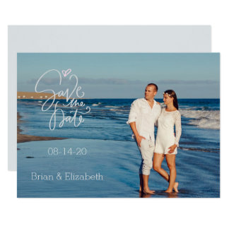 Seashore Photograph Save the Date Card