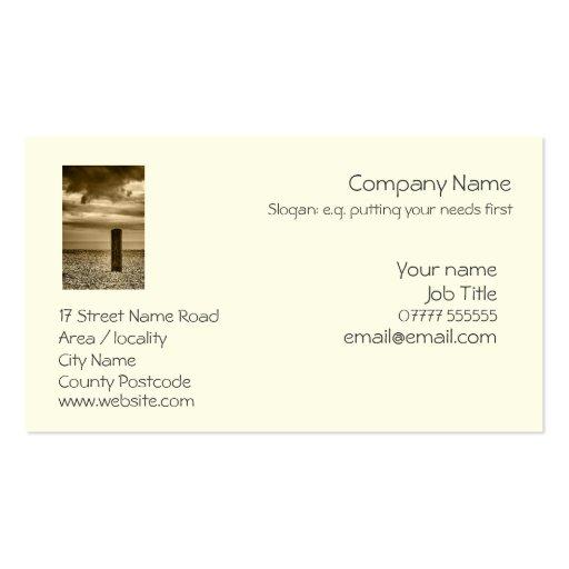 Seashore Pillar generic business card template