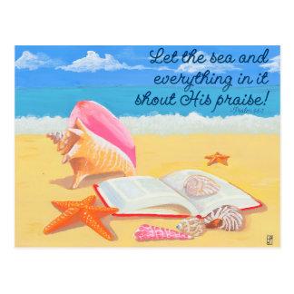 Seashore Praise Inspirational Post Card