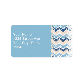 Seashore Scribble ZigZag Label