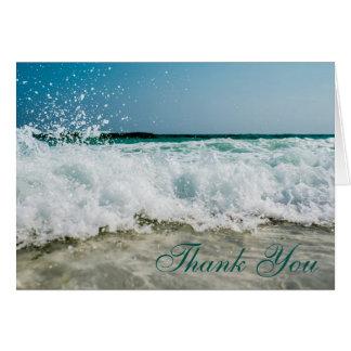 Seashore Seascape Memorial Service Thank You Card