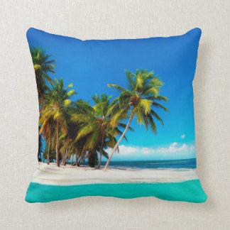 Seashore Square Cotton Throw Pillow Case 16x16