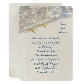 Seashore Starfish Wedding Card