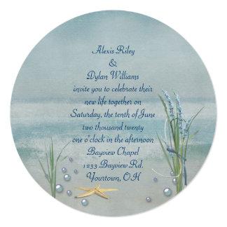 Seashore Starfish Wedding Invite