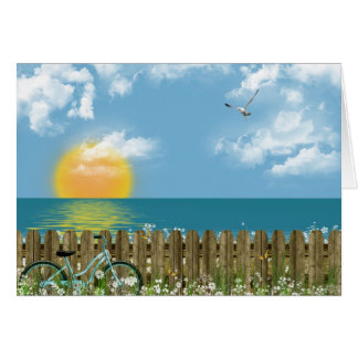 Seashore thinking of you card