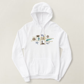 Seashore treasures embroidered hoodie