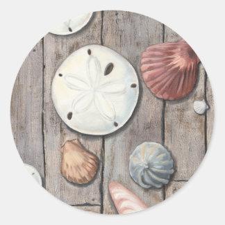 Seashore Treasures Round Sticker