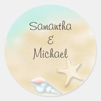 Seashore  Wedding  Stickers