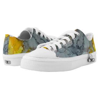 Seaside Abstract Low-Top Sneakers