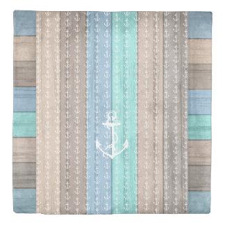 Seaside Beach Designer Style with Anchors 2 Duvet Cover