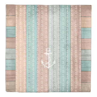 Seaside Beach Designer Style with Anchors Duvet Cover