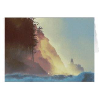 Seaside Beach Point Watercolor Card