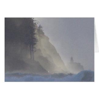 Seaside Beach Point Watercolor Pastel Card