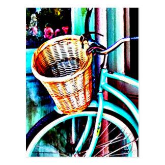 Seaside Bike by J.Gaston Postcard