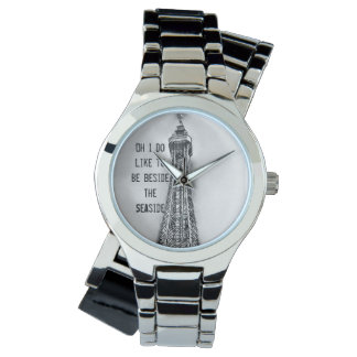 Seaside Blackpool tower themed watch
