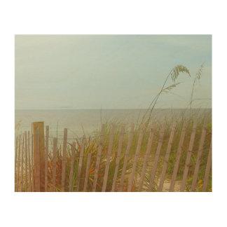 Seaside Brush Wood Wall Art