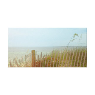 Seaside Brush Wrapped Canvas Wall Art