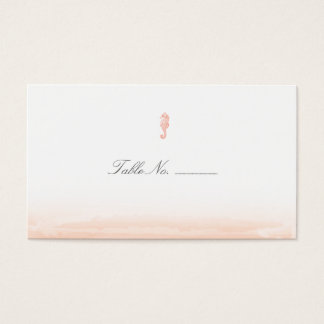Seaside Coral Guest Table Escort Cards