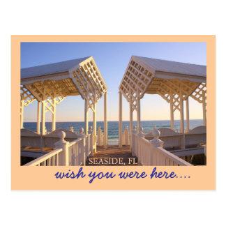 Seaside, Florida Beach Access Wish You Were Here Postcard