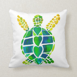 Seaside friends turtle and seahorse pillow
