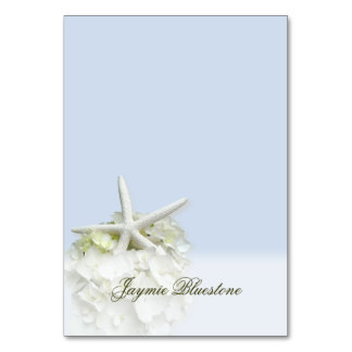 Seaside Garden Tented Place Card Name Template Table Card