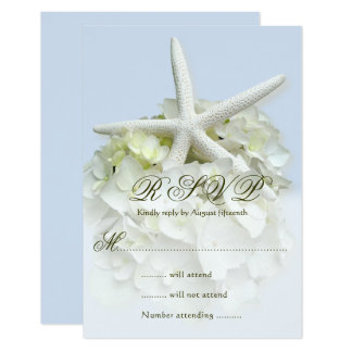Seaside Garden Wedding Reply Enclosure Card