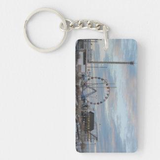 Seaside Heights Funtown Pier Sunrise Single-Sided Rectangular Acrylic Keychain