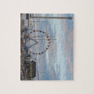 Seaside Heights Sunrise Funtown Pier Jersey Shore Jigsaw Puzzle