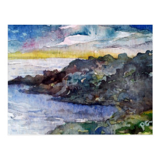 seaside landscape postcard