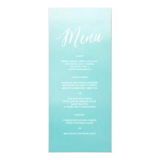 "Seaside | Menu 4"" X 9.25"" Invitation Card"