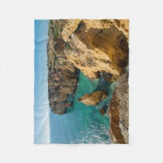 seaside nature towel fleece blanket