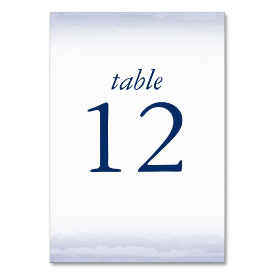 Seaside Navy Table Number Cards