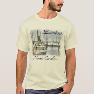 Seaside Ocean Harbor and Boats T-Shirt