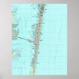 Seaside Park & NJ Shore Map (1989) Poster