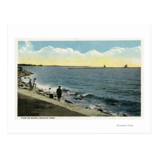 Seaside Park View of the Sound Postcard
