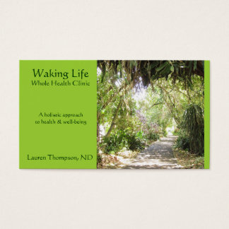 Seaside Path- Lime Green Business Card